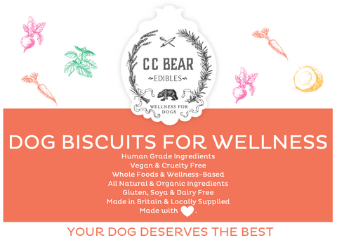 CC Bear Biscuits for Wellness Sign Vegan, Cruelty Free Human Grade Dog Biscuits