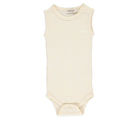 Off white sleeveless baby bodysuit | MarMar Copenhagen
