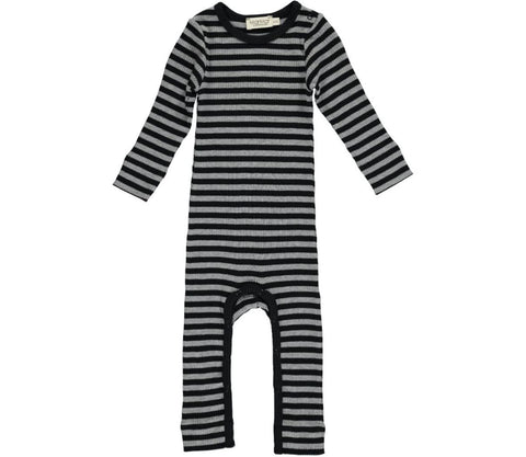 Black and grey stripe onesie | MarMar Copenhagen