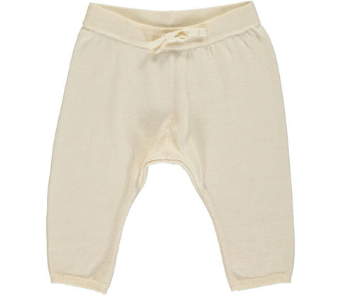 Newborn baby off white trousers | MarMar Copenhagen