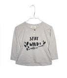 Monsieur Mini long sleeve stay wild top | Pippa Petit