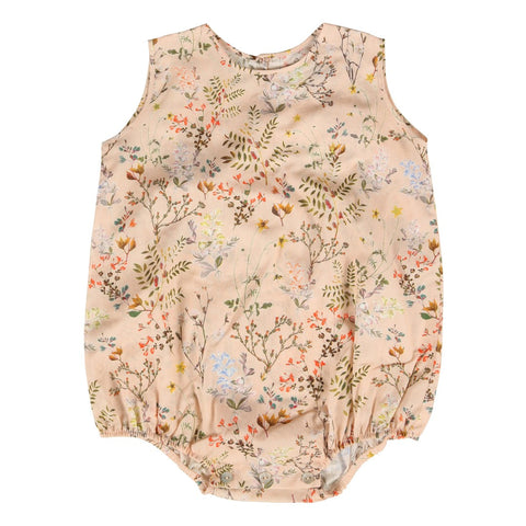 Nude flower print baby bodysuit | Christina Rohde