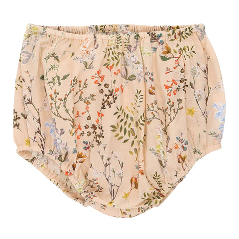 Nude flower print baby bloomers | Christina Rohde