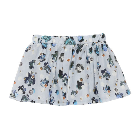 Blue flower print baby skirt | Christina Rohde