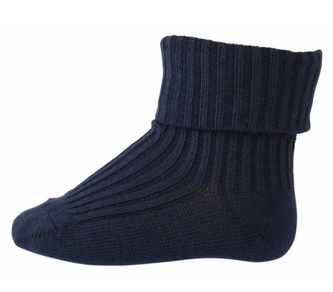Navy blue baby sock | MP Denmark