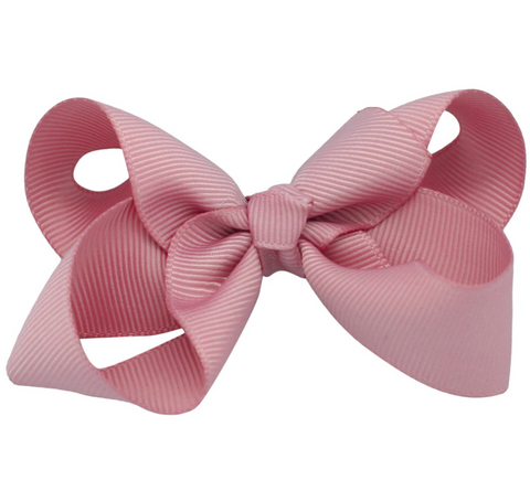 Rose pink bow hair clips | Bows by Staer