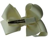 Creme white bow hair clips | Bows by Staer