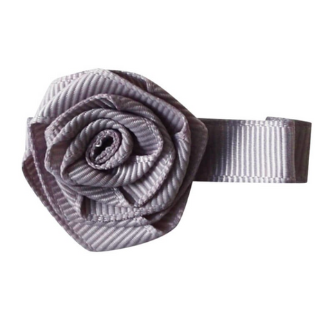 Grey rose baby hair clips | Bows by Staer