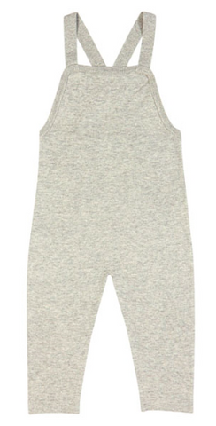 Grey knit baby overalls | FUB