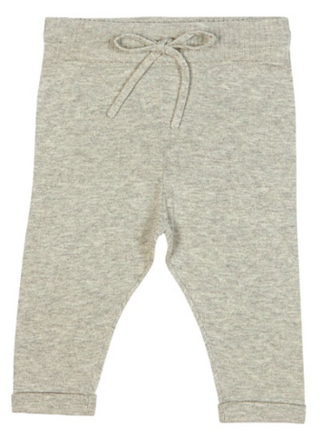 Grey knit baby trousers | FUB
