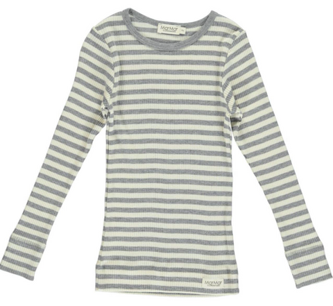 Plain tee LS modal stribes