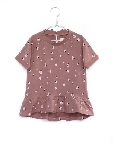 Pink sweatshirt girl dress | Monsieur Mini