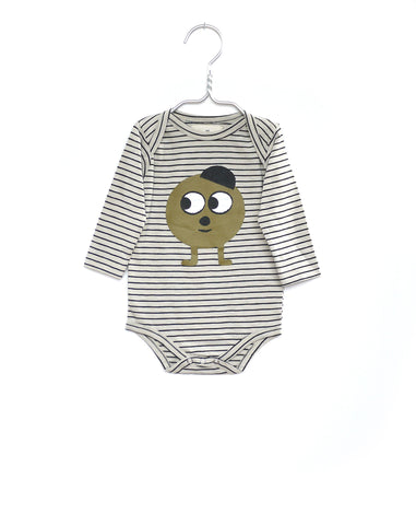 Stripe print baby onesie | Monsieur Mini