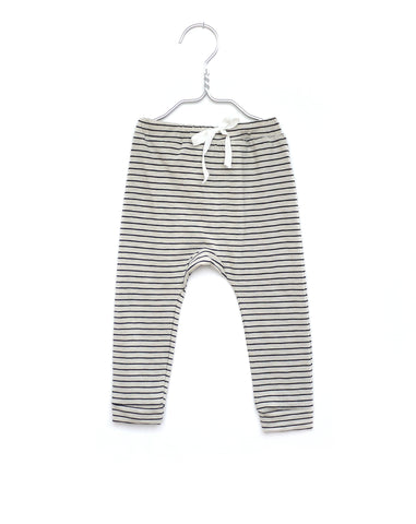 Black white stripes leggings | Monsieur Mini