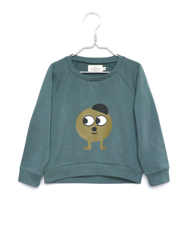 Green kid children sweatshirt | Monsieur Mini