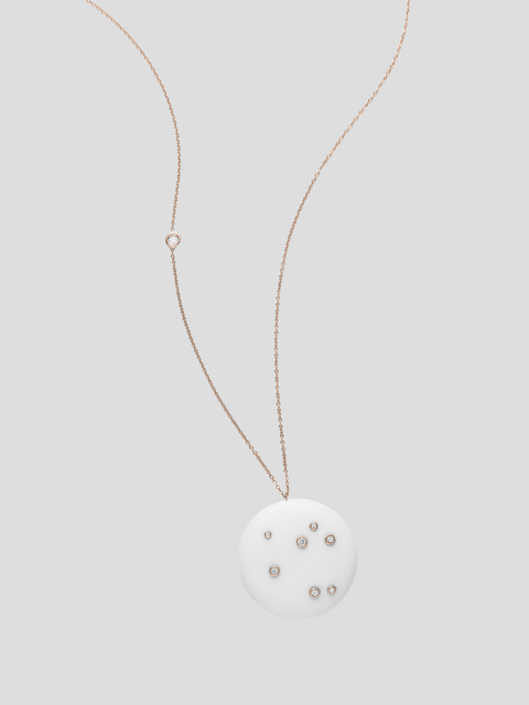White Onyx Constellation Of Life Diamond Necklace
