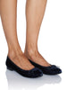 The Classic Flat in Navy Velvet