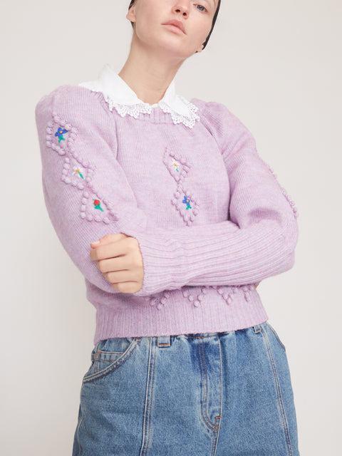 Crewneck Puff Sleeve Sweater