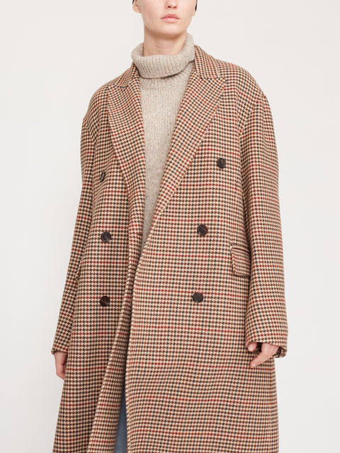 Carles Check Double-Face Coat