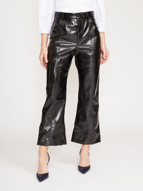 Vegan Patent Leather Pants