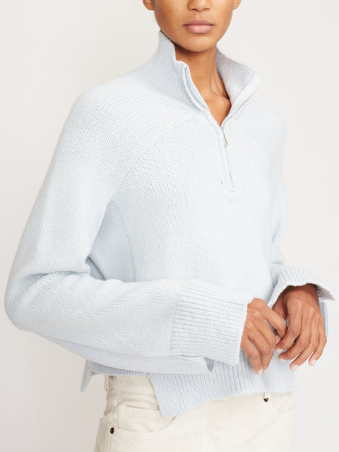 Cropped Zip Turtleneck Sweater
