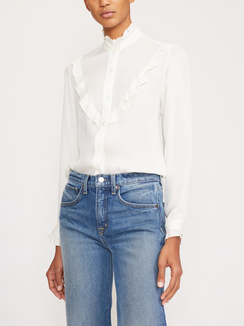 Marcela Ruffle-Trim Shirt,Nili Lotan,- Fivestory New York