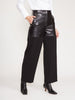 Leather and Wool Cropped Fireman Pants