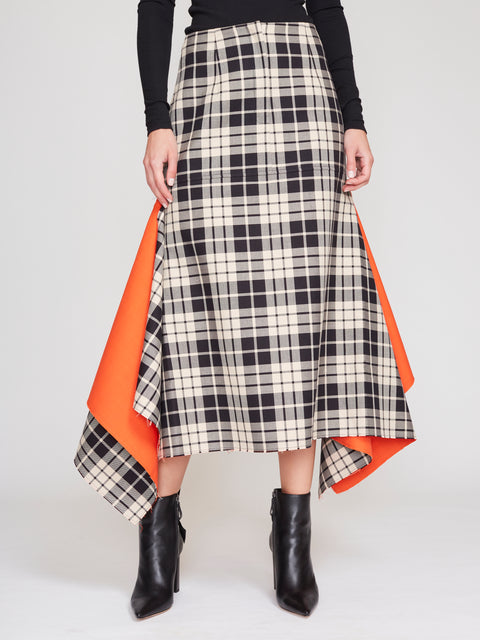 Belle Checked Midi Skirt