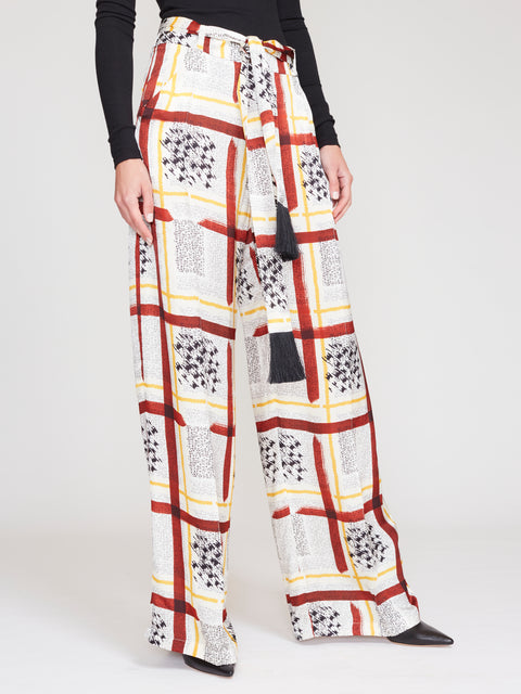 Wendy Wideleg Trousers With Tassel Belt