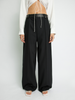 Black Leather Belted Trouser