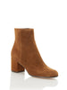 Margaux Suede Ankle Boots in Brown