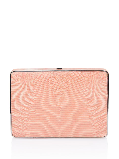 Pink Lizard Square Compact Clutch