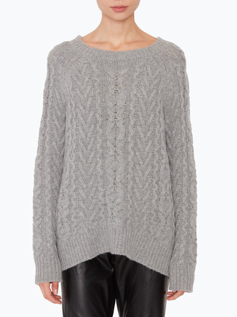 Arienne Cable Crewneck Sweater,Nili Lotan,- Fivestory New York