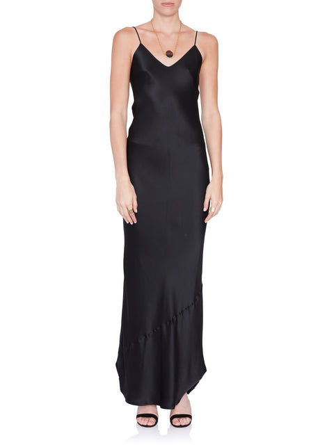 Black Silk Cami Gown,Nili Lotan,- Fivestory New York