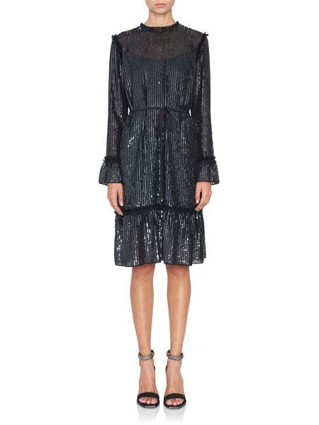 Gloss Sequin Longsleeve Dress