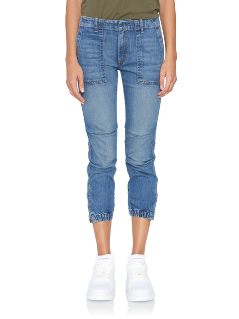 French Crop Military Jean