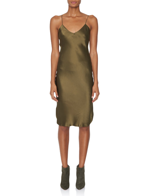Green Midi Slip Dress,Nili Lotan,- Fivestory New York