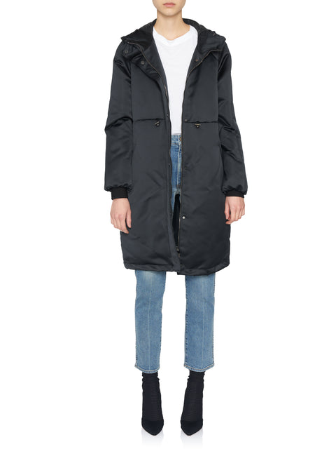 Long Drawstring Puffer Coat