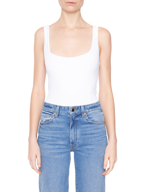 Mott White Sleeveless Bodysuit