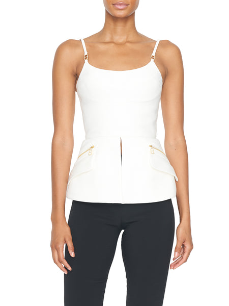 Sleeveless Neo Twill Bustier Top