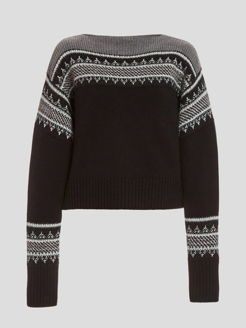 Boatneck Fair Isle Sweater