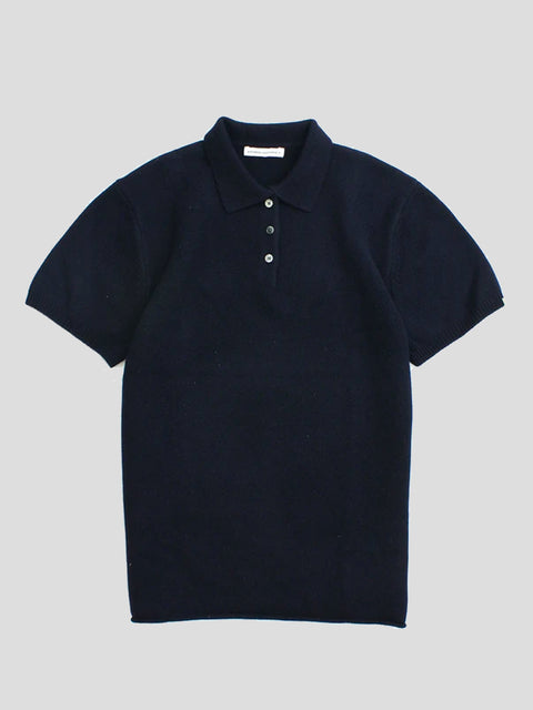 No.153 Bizar Short Sleeve Polo Neck Sweater