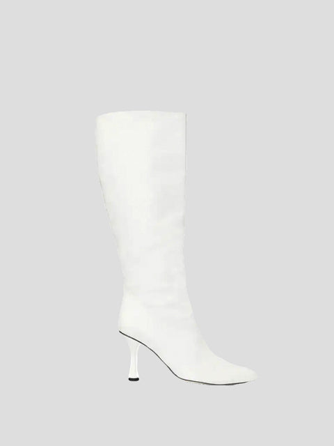 90mm Square Toe Knee High Boots