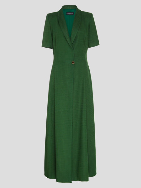 Suiting Shawl Collar Maxi Dress