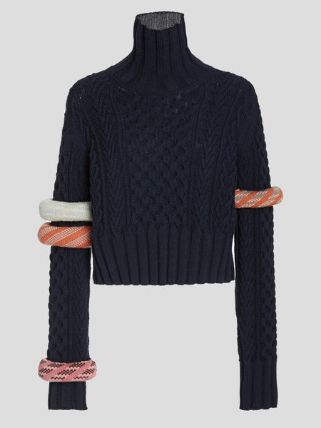 Bangled Mockneck Sweater