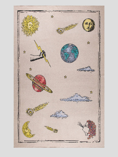 Mm Curiosities Beige Throw