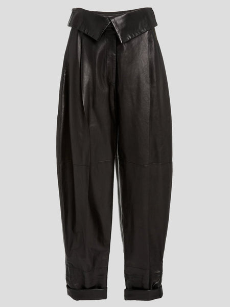 Lightweight Leather Exaggerated Pant