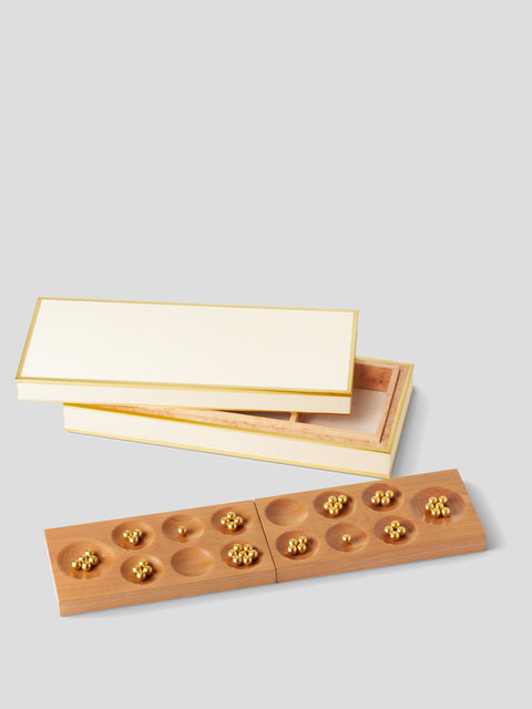 Cream Shagreen Mancala Set