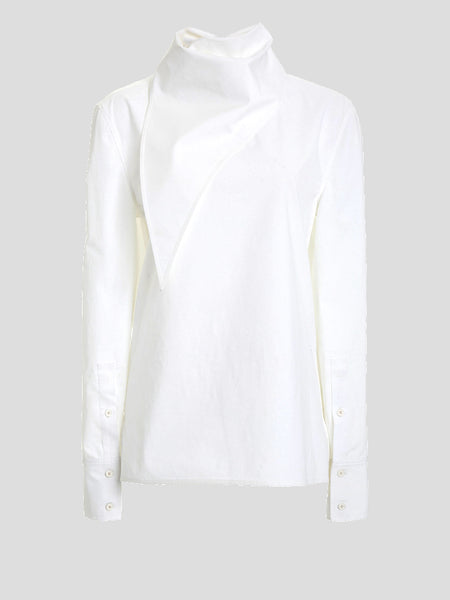 Long Sleeve Cotton Handkerchief Top