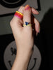 Red Unicorn Rainbow Enamel Stacking Ring